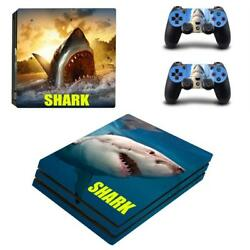 The Meg Shark PS4 Pro Console Controllers Vinyl Decals Skins Stickers Set Wraps