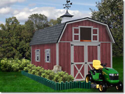 Best Barns Woodville 10x16 Wood Storage Shed Kit - ALL Pre-Cut