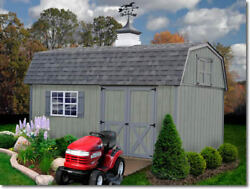 Best Barns Meadowbrook 16x10 Wood Storage Shed Kit - ALL Pre-Cut
