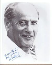 DECEASED ACTOR ELI WALLACH INSCRIBED & SIGNED 8x10 BLACK & WHITE PHOTO