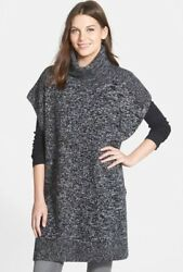 NWT $388 Size XSS NORDSTROM COLLECTION 100% Cashmere PONCHO Turtleneck