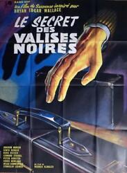 EDGAR WALLACE : THE SECRET OF THE BLACK TRUNK - ORIGINAL LARGE MOVIE POSTER
