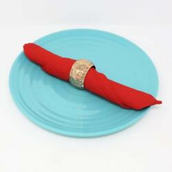 Copper Hammered Napkin Rings For Dinner Party Gift Christmas Daily Use 1.5