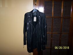 NWT All Saints Gorgeous ASKER Biker Jacket buttery soft Leather size UK 12US 8