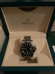 Rolex submariner 116610 mens stainless steel ceramic Black Dial 40 mm