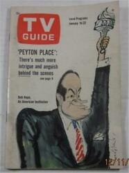 TV GUIDE JAN 16 1965 PEYTON PLACE ISAAC ASIMOV LIVING DOLL MAN FROM UNCLE