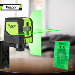Huepar Green Laser Level DIY Cross Line Laser Self Leveling 9011G Bright Green $39.59