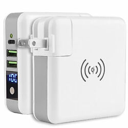 Portable Wireless Charging Power Bank Quick Fast Charger USB Wall Adapter Travel $25.96