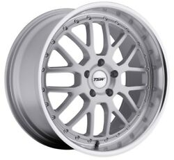 19x95 TSW Valencia 5x120 Rims +40 Silver Wheels (Set of 4)
