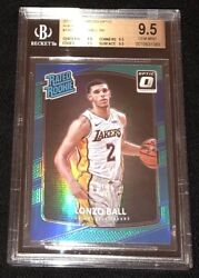 Lonzo Ball 2017 18 BGS 9.5 Panini Donruss Optic AQUA 23 25 Prizm RC Rookie Card