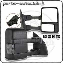 For 1999-2016 Ford F250 F350 Super Duty Manual Side Black Towing Mirrors Pair $140.71