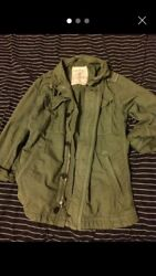 Womens American Eagles Outfitters Khaki Lightweight Zipped Jacket