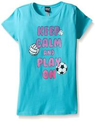 Fifth Sun Girls#x27; Little Girls#x27; Sporting Graphic T Shirt Tahiti Blue Small $6.95