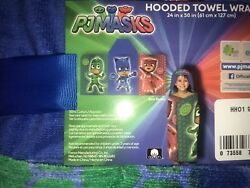 PJ Masks Hooded Beach Towel New 24quot;x50quot; Free Shipping $19.50