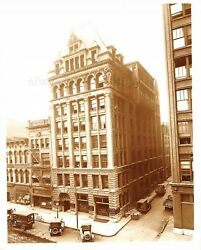 VINTAGE INDIANAPOLIS INDIANA PHOTO COMMERCIAL BUILDING EARLY VIEW BANK 1921 TOWN $12.95