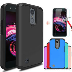 For LG Aristo 3  3 Plus  Tribute Empire Case Cover With Glass Screen Protector