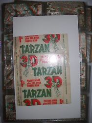 1953 TARZAN & THE SHE DEVIL COMPLETE CARD SET with WRAPPER & 3D GLASSES  TOPPS