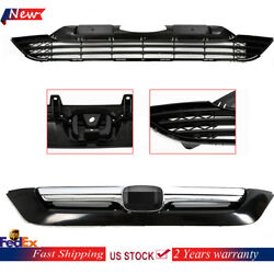Upper Grille+Lower Grill fit Honda CRV CR-V 07-09 2354CC Front Bumper Chrome Hot