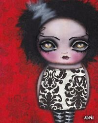 She's Alive by Abril Andrade Griffith Goth Girl Fine Art Giclee Canvas Print