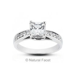 1.58ct tw FVS2Ideal Radiant AGI Certify Diamonds White Gold Trellis Ring 3.8mm