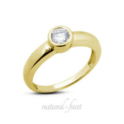 1.54 CT FSI1Ideal Round AGI Certified Diamond Yellow Gold Classic Ring 5.3mm