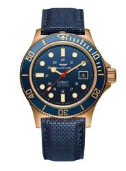 Glycine Men's GL0174 Combat Sub 42 Bronze Automatic 42mm Blue Dial Watch $429.00