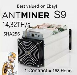 Bitcoin Mining contract 168Hr 14THs - Antminer s9 - SHA256 - 7 Day