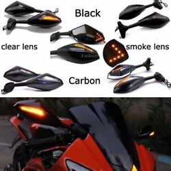 MOTORCYCLE LED TURN SIGNAL Integrated MIRRORS FOR YAMAHA YZF 600 YZF R1 R6 R6S