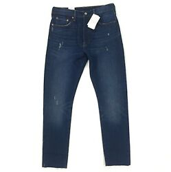 New Levi#x27;s 501 Skinny Jeans for Women Stretch Fit Blue Denim Cut Fray 501s S $41.99