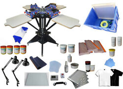 TECHTONGDA Screen Printing Kit 4 Color Screen Printing Machine Press for Starter