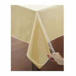 Window Clear Vinyl Tablecloth Protector Heavy Oblong Plastic Table Cover 60