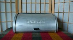 Vintage Metal Bread Box By Kromex Roll Up Door 15.5