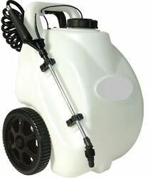 Garden Sprayer On Wheels 12Volt Rechargeable Electric Battery Operated Spot Home $179.99