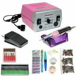 30000 RPM Professional Manicure Electric Drill File Nail Art Machine + 6 Tools