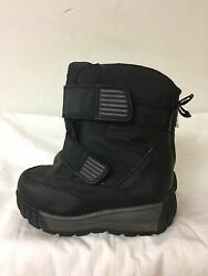 TARGET KIDS LINED BOOTS BLACK FAUX FUR LINED SIZE 9 $12.99