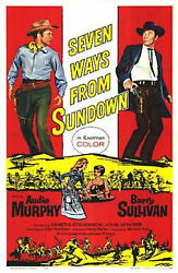 SEVEN WAYS FROM SUNDOWN ( 1960 DVD ) AUDIE MURPHY  BARRY SULLIVAN