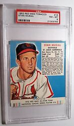 1952 Red Man Tobacco #16 Stan Musial HOF PSA 8 NM-MT Cardinals POP 9 5 Higher