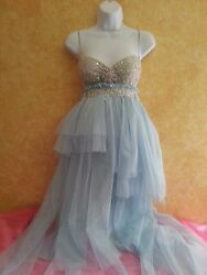 Something Blue Sex & The City Multi Tier Boho Babydoll Tulle Tutu Wedding Dress