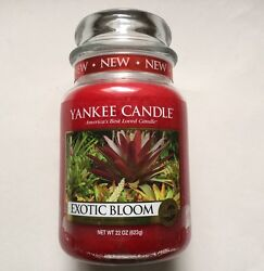 YANKEE CANDLE EXOTIC BLOOM 22 oz. LARGE JAR HTF TROPICAL FLORAL SCENT RETIRED