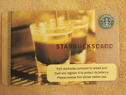 STARBUCKS CARD ** Coffee As Art ** 2006 DOUBLE SHOT GLASSES RARE HTF NO $ val $3.49