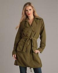 G.E.T. DRAWSTRINGS TRENCH COAT, BLACK OR OLIVE $56.11