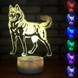 Dog 3D Lights LED Night Light Creative Gifts Small Lamps USB Kids Lamp $20.99