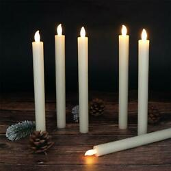 Set of 6 Flameless Candles Window Taper Candles with Timer and Remote Control