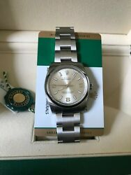 Rolex NIB Oyster Perpetual 114200 Silver dial Saphire crystal C. 2018