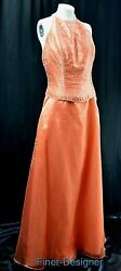 Mori Lee Quinceanera prom wedding Ball evening long gown dress bead halter 19 20
