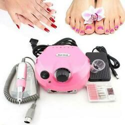 30000RPM Nail Art Machine Tool Pedicure Electric Drill File Acrylic Manicure Kit