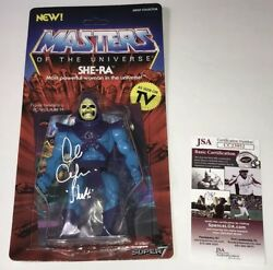 ALAN OPPENHEIMER Signed SUPER 7 SHE-RA Skeletor Misprint MASTERS OF UNIVERSE JSA
