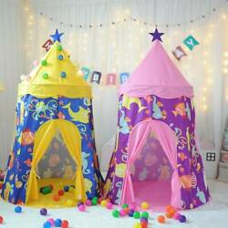 Pop Up Play Tent Prince Princess Space Castle Playhouse Kids Indoor Outdoor Tent