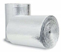 Double Bubble Reflective Foil Insulation 48in X 10Ft Roll Industrial Strength R8 $29.44