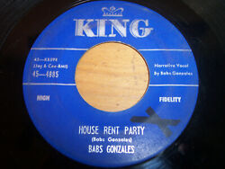 Babs Gonzales House Rent Party She's Just Right For Me King 4885 VG+ 45RPM